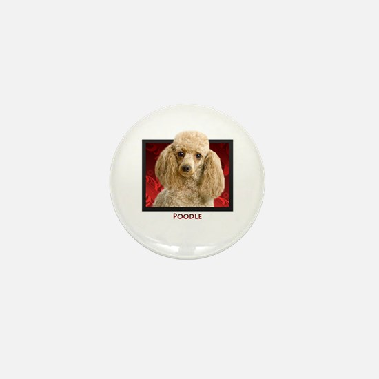 Poodle Mini Button