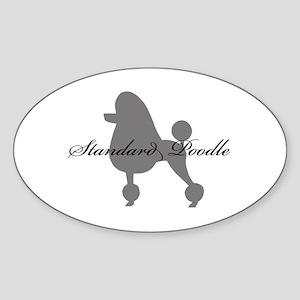 Standard Poodle Oval Sticker