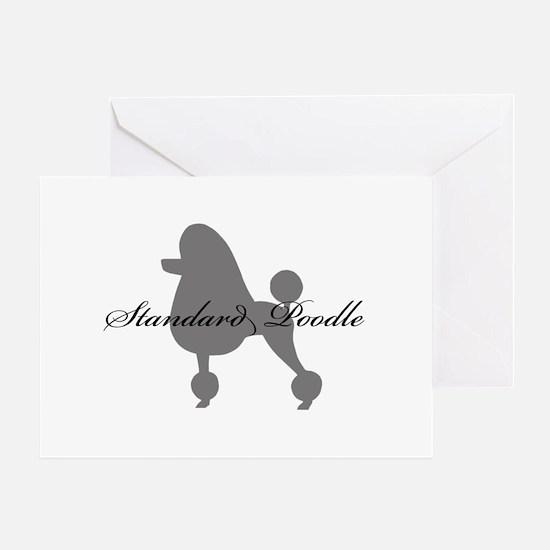 Standard Poodle Greeting Card