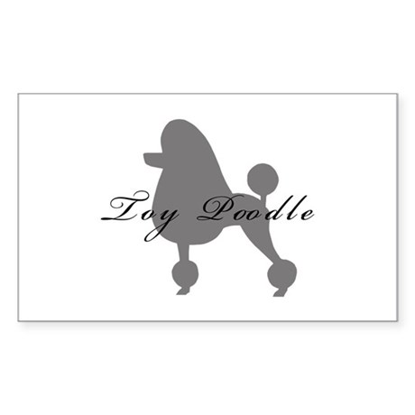 Toy Poodle Rectangle Sticker