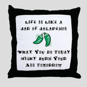 Funny Jalapenos Throw Pillow