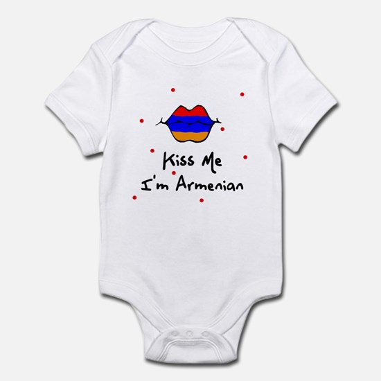 Kiss Me I'm Armenian Baby Toddler Infant Bodysuit