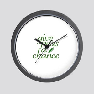 Give Peas a Chance (new) Wall Clock