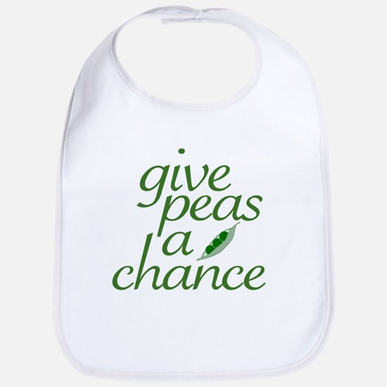Give Peas a Chance (new) Bib