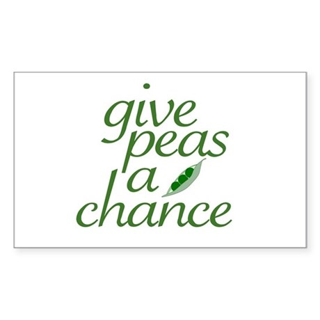 Give Peas a Chance (new) Rectangle Sticker