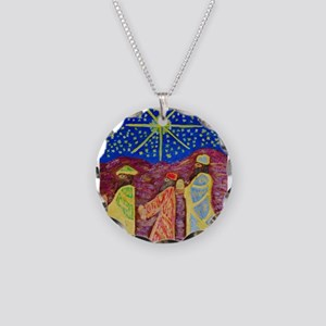 THREE WISE MAN Necklace Circle Charm
