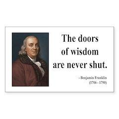 Benjamin Franklin 20 Rectangle Decal