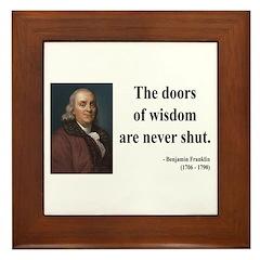Benjamin Franklin 20 Framed Tile