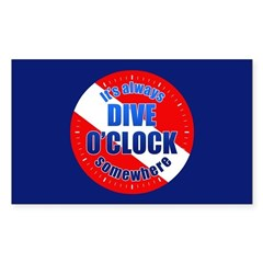 https://i3.cpcache.com/product/293349761/its_dive_oclock_somewhere_rectangle_decal.jpg?side=Front&color=White&height=240&width=240