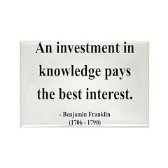 Benjamin Franklin 21 Rectangle Magnet (100 pack)