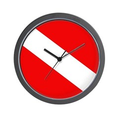 https://i3.cpcache.com/product/293356472/diver_down_flag_wall_clock.jpg?side=Front&height=240&width=240