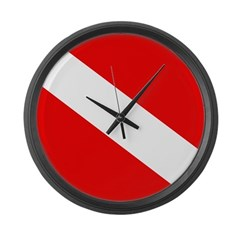 https://i3.cpcache.com/product/293356473/diver_down_flag_large_wall_clock.jpg?side=Front&color=Black&height=240&width=240