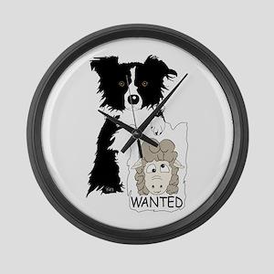 Sheep Wanted Large Wall Clock