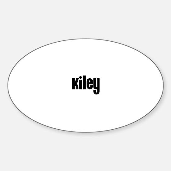 Kiley Oval Decal