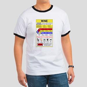 Wine Hazardous Material Ringer T