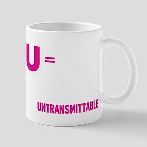 U=U Undetectable = Untransmittable Mugs