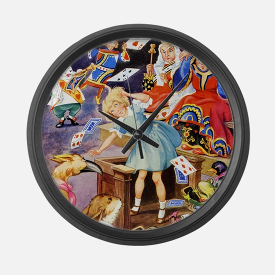 ALICE IN THE JURY BOX Large Wall Clock