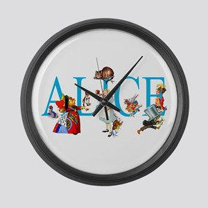 ALICE & FRIENDS IN WONDERLAND Large Wall Clock