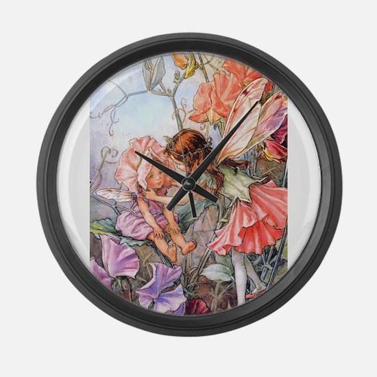 SWEET PEA FAIRY II Large Wall Clock