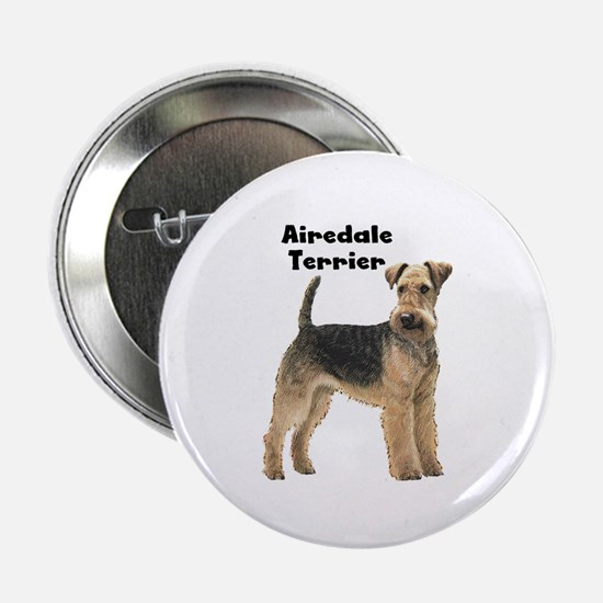 """Airedale Terrier 2.25"""" Button"""