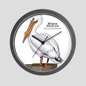 White Pelican Wall Clock