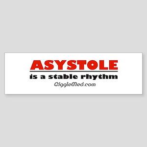Asystole Bumper Sticker