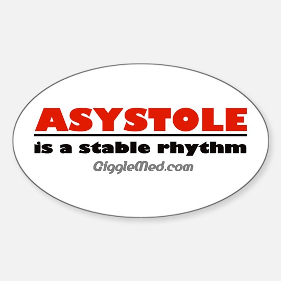 Asystole Oval Decal