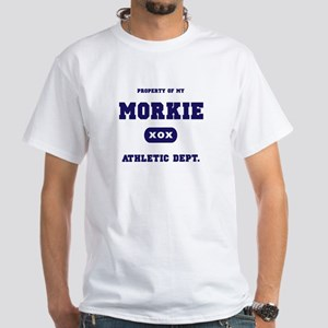 Property of my Morkie White T-Shirt