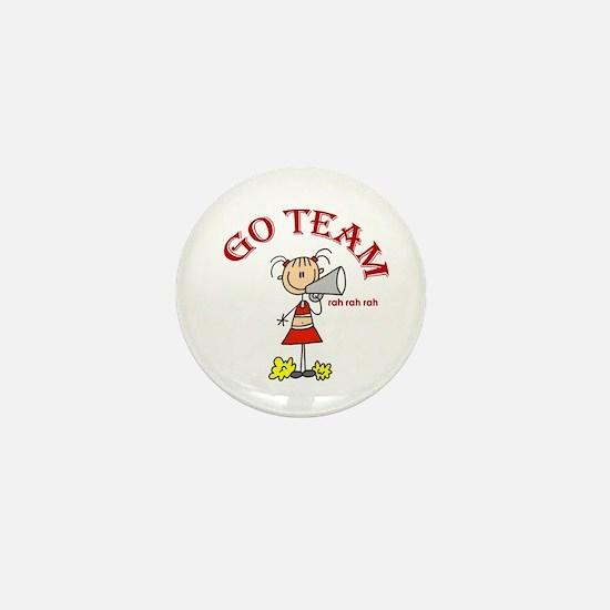 Go Team Cheerleading Mini Button