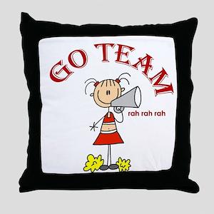 Go Team Cheerleading Throw Pillow