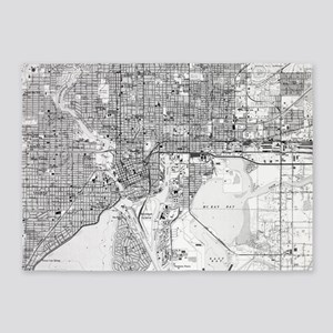 Vintage Map of Tampa Florida (1944) 5'x7'Area Rug