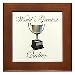 World's Greatest Quilter Framed Tile