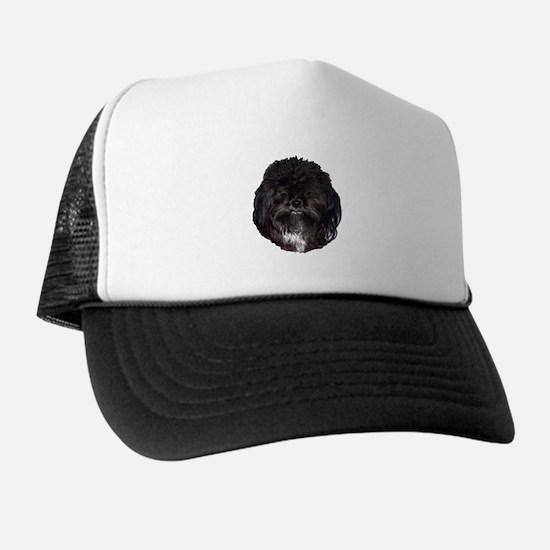 Black Shih Tzu Trucker Hat