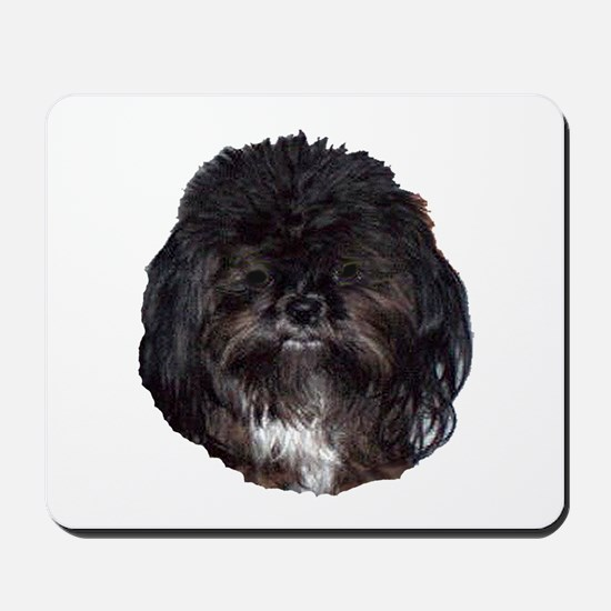 Black Shih Tzu Mousepad