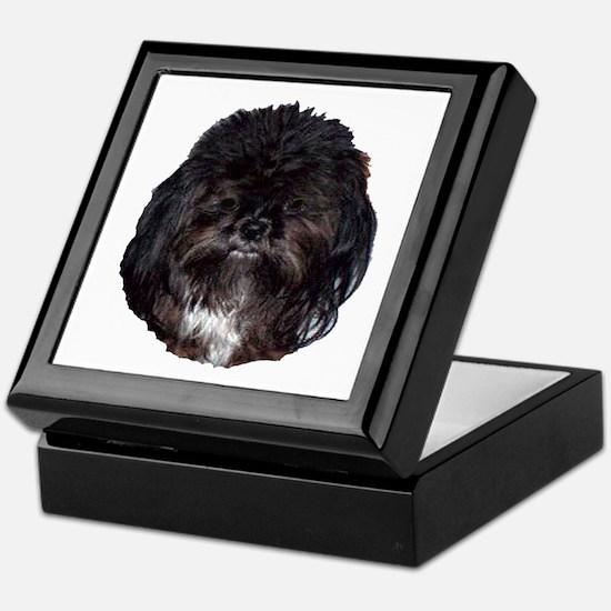 Black Shih Tzu Keepsake Box
