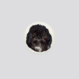 Black Shih Tzu Mini Button