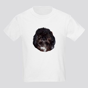 Black Shih Tzu Kids Light T-Shirt