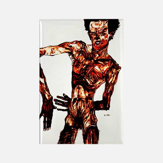 Egon Schiele Self-Portrait Rectangle Magnet
