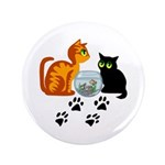"""Fish Bowl Kitty 3.5"""" Button (100 pack)"""