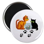 """Fish Bowl Kitty 2.25"""" Magnet (100 pack)"""