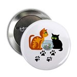 """Fish Bowl Kitty 2.25"""" Button (100 pack)"""