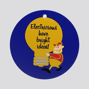 Electricians Ornament (Round)