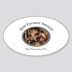 What Would Aeneas Do? Oval Sticker