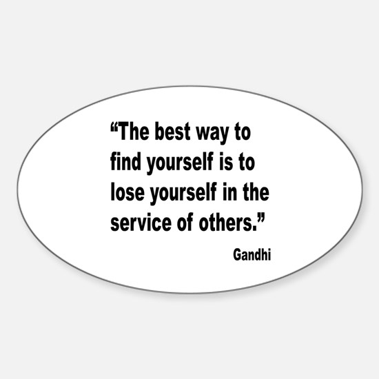 Gandhi Find Yourself Quote Oval Decal