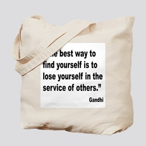 Gandhi Find Yourself Quote Tote Bag