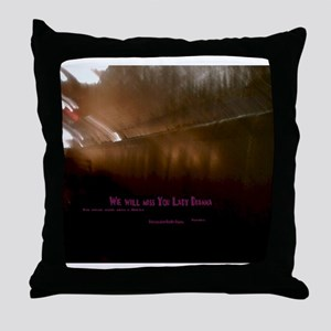Lady Dianna We will miss you Throw Pillow