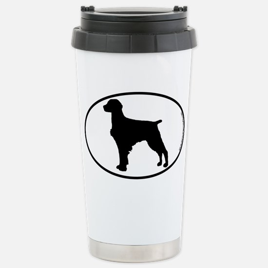 Brittany Spaniel SILHOUETTE Stainless Steel Travel