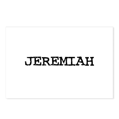 Jeremiah Postcards (Package of 8)