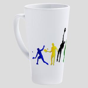 Tennis Players 17 Oz Latte Mug