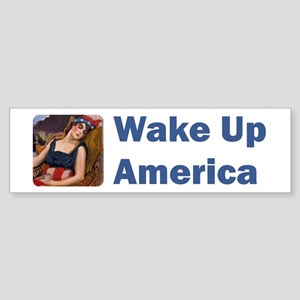 Wake Up America Sticker (Bumper)